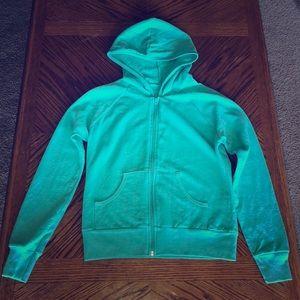💥American Apparel mint zip up hoodie